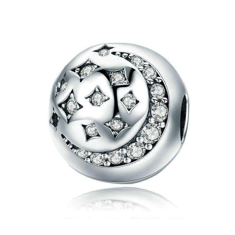 Pandora Compatible 925 sterling silver Moon & Star Clip From CharmSA Image 1