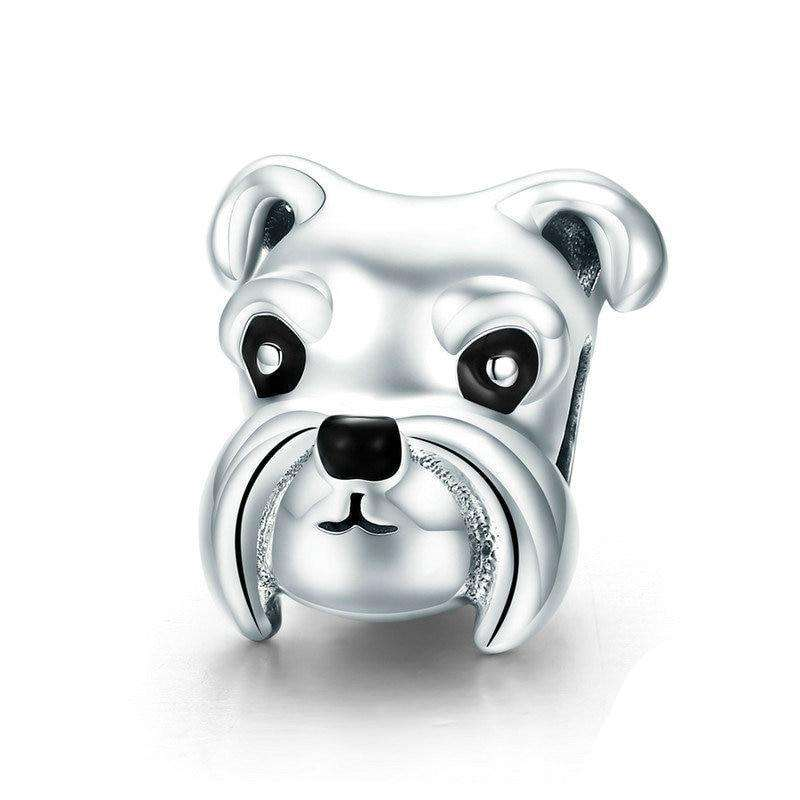 Pandora Compatible 925 sterling silver Lovely Animal Schnauzer Dog Charm From CharmSA Image 1
