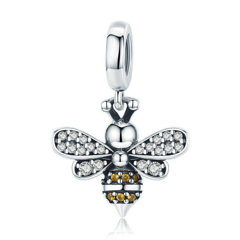 Pandora Compatible 925 sterling silver Bee Luminous CZ Charm From CharmSA Image 1