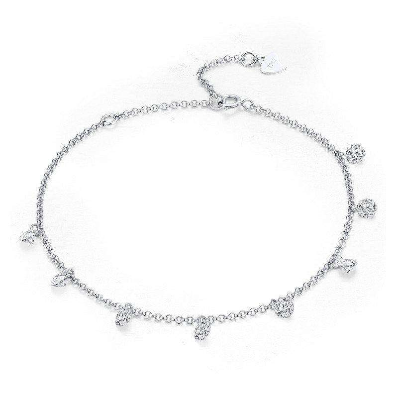 Simple Geometric CZ Link Chain Bracelet