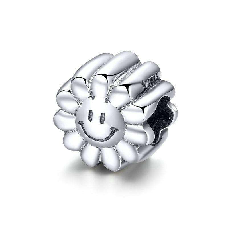 Pandora Compatible 925 sterling silver Smile Sunflower Sunny Face Charm From CharmSA Image 1