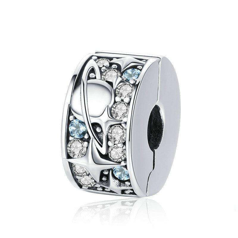 Pandora Compatible 925 sterling silver Star Moon Planet Clip From CharmSA Image 1