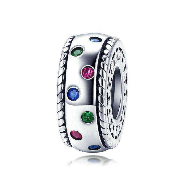 Pandora Compatible 925 sterling silver Rainbow CZ Spacer From CharmSA Image 1
