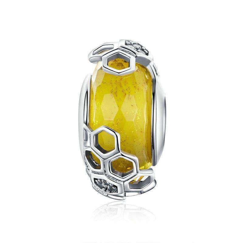 Pandora Compatible 925 sterling silver European Honeycomb Bee Charm From CharmSA Image 1