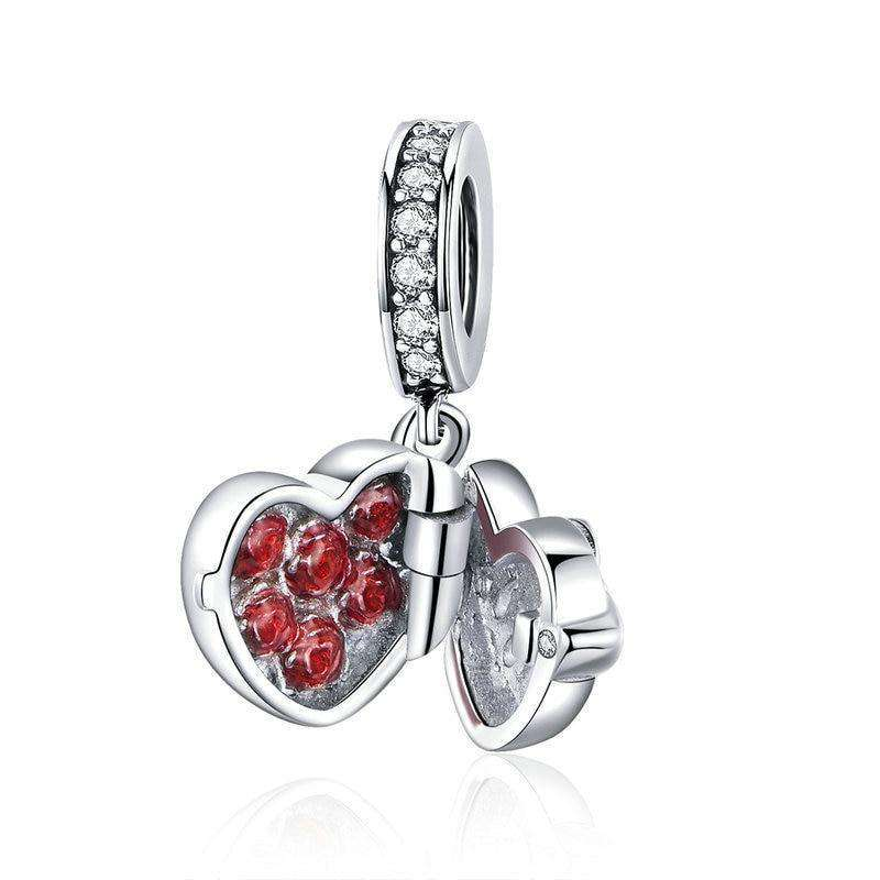 Pandora Compatible 925 sterling silver Love Heart Gift Box Charm From CharmSA Image 1