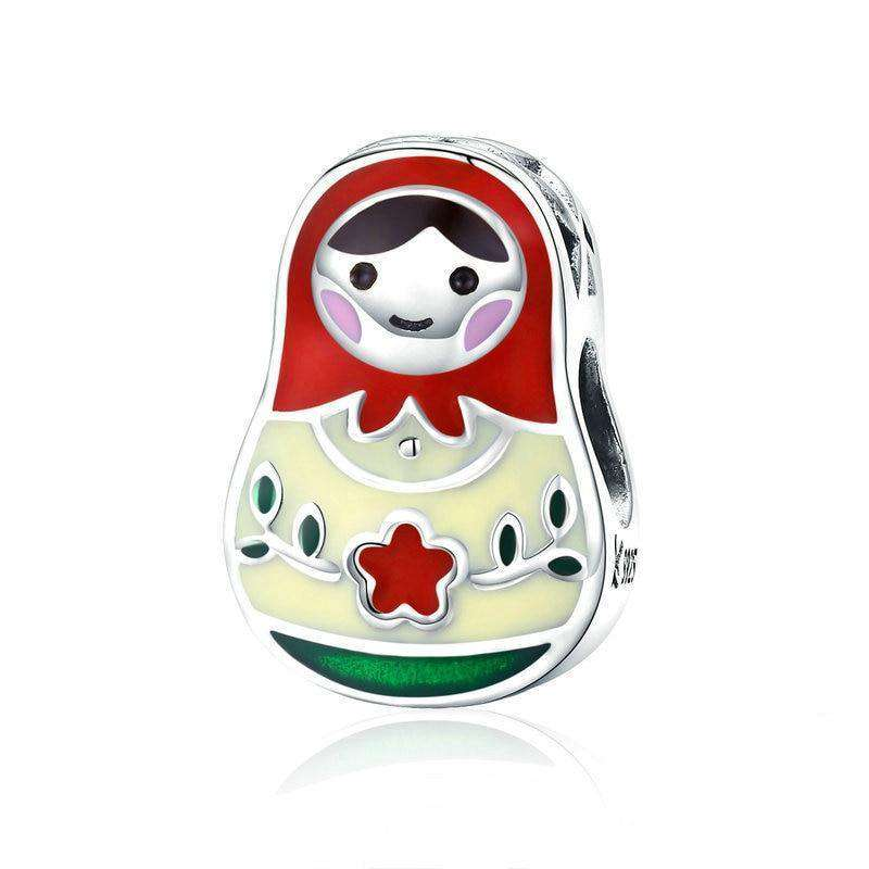 Pandora Compatible 925 sterling silver Colorful Enamel Matryoshka Charm From CharmSA Image 1