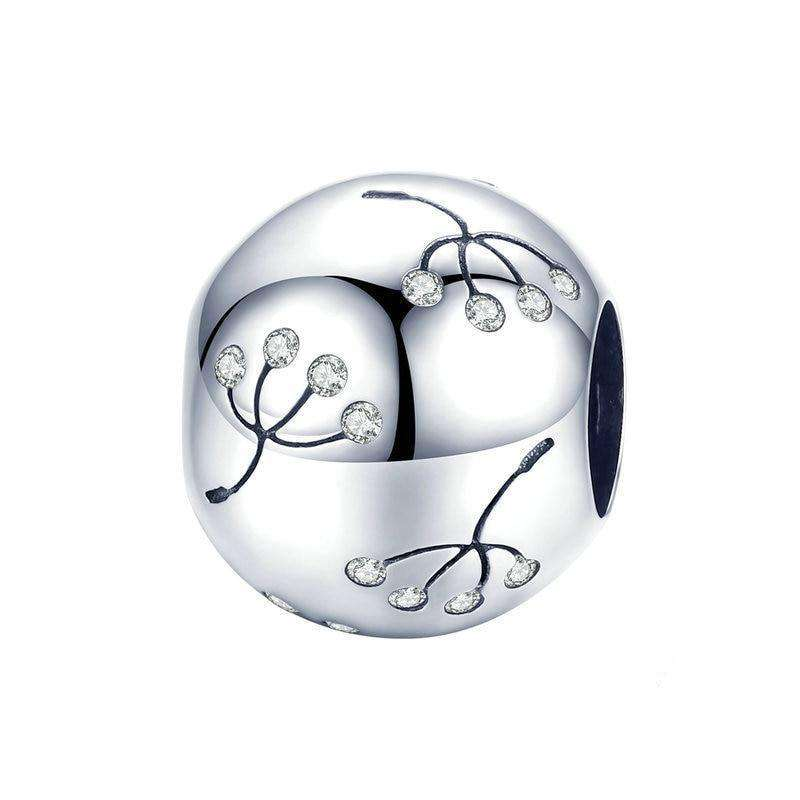 Pandora Compatible 925 sterling silver Dandelion Flower Round Charm From CharmSA Image 1