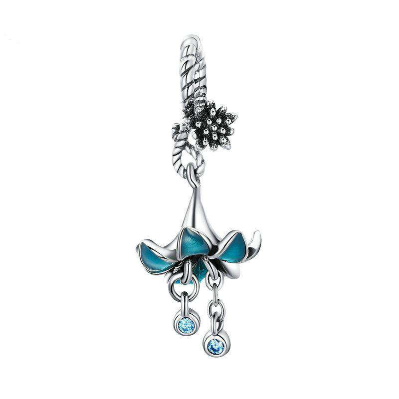 Blue Enamel Flower Charm