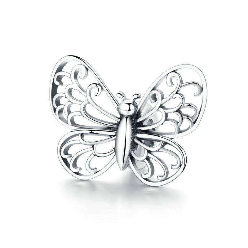 Pandora Compatible 925 sterling silver Butterfly Insect Charm From CharmSA Image 1