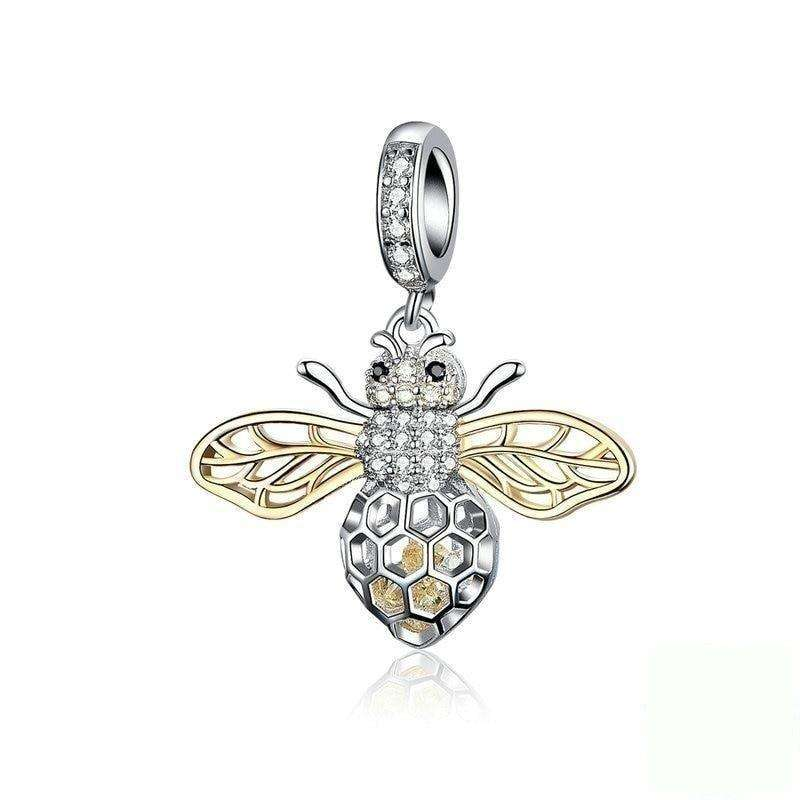 Pandora Compatible 925 sterling silver CZ Bee Charm From CharmSA Image 1