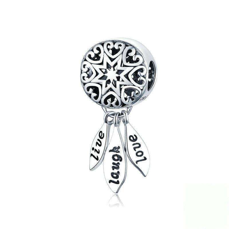 Pandora Compatible 925 sterling silver Life Dream Catcher Dangle Charm From CharmSA Image 1