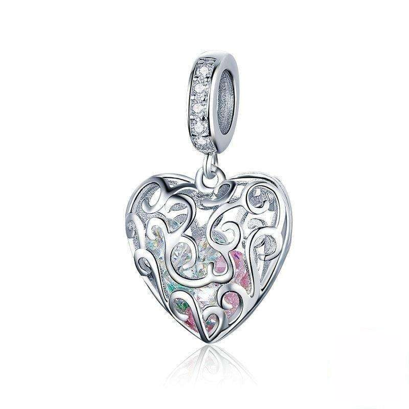 Pandora Compatible 925 sterling silver Love Heart Dangle Charm From CharmSA Image 1