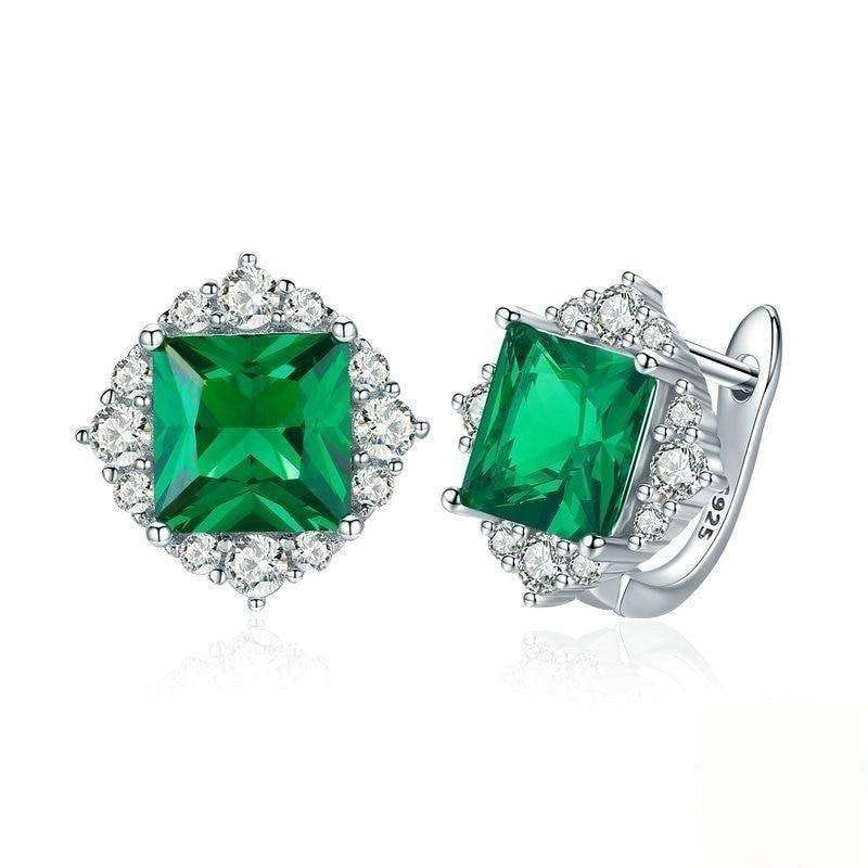 Green Square Zircon Stud Earrings From CharmSA Image 1