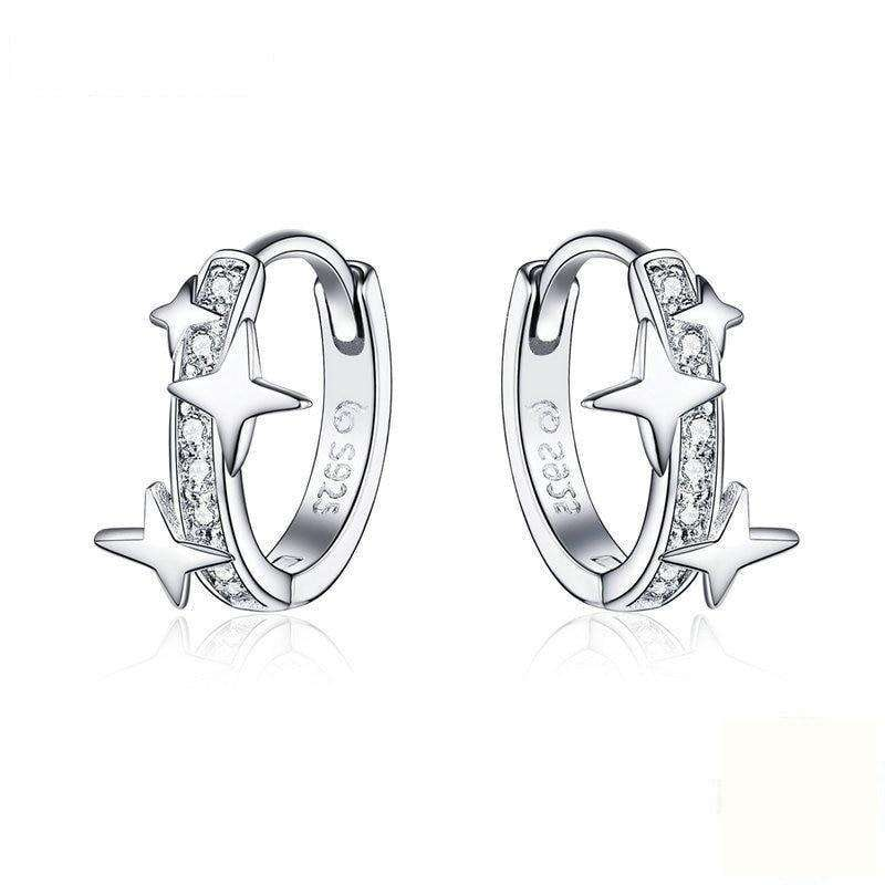 Clear CZ Universe Galaxy Earrings From CharmSA Image 1
