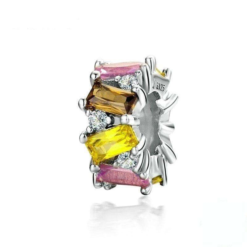 Pandora Compatible 925 sterling silver Multicolored CZ Stopper Spacer From CharmSA Image 1