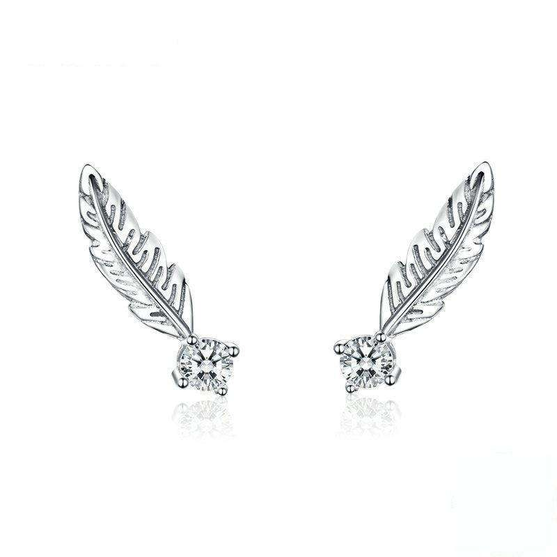 Small Feather Stud Earrings From CharmSA Image 1