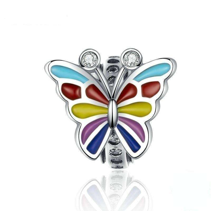 Pandora Compatible 925 sterling silver Colorful Butterfly Charm From CharmSA Image 1