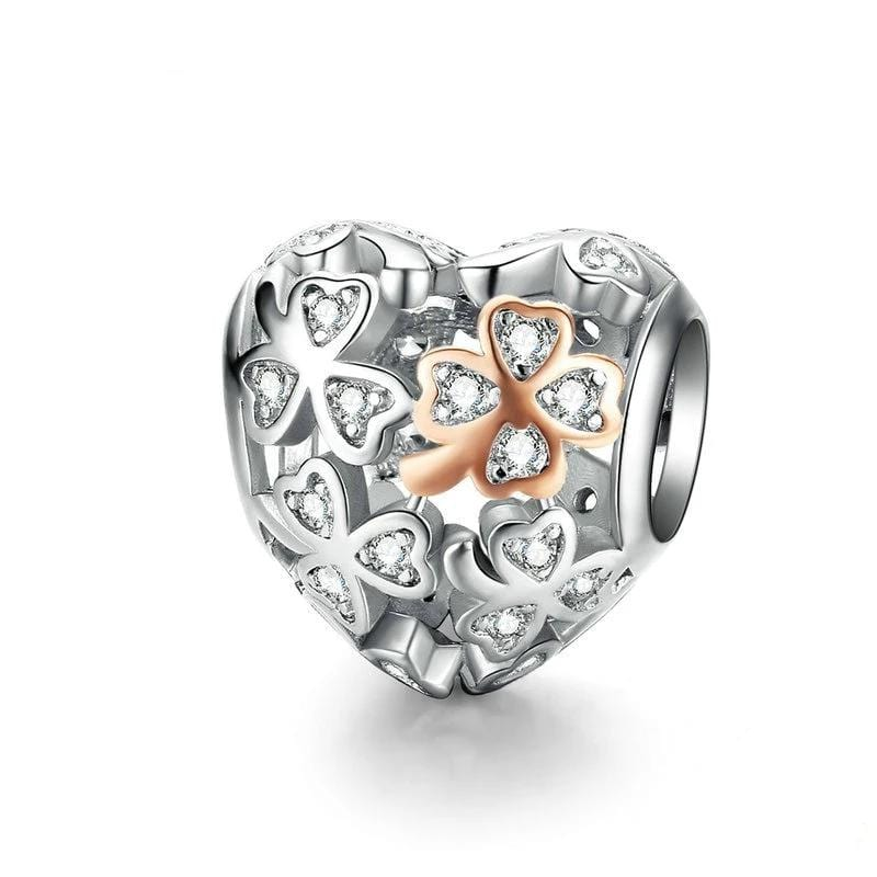 Pandora Compatible 925 sterling silver Lucky Clover Charm From CharmSA Image 1