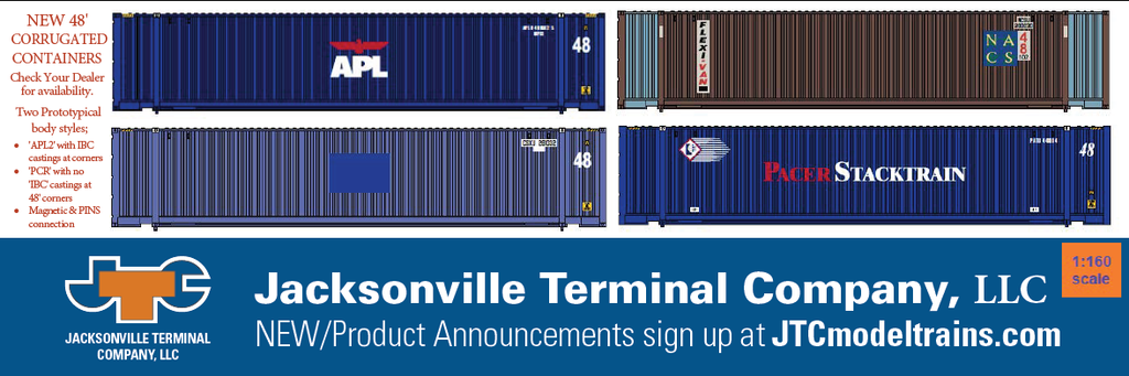 NEW Product Announcement - 48' Corrugated containers in N Scale