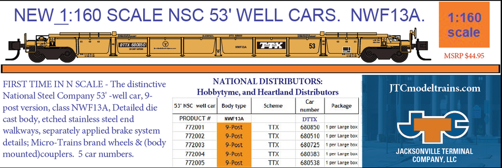 NEW N SCALE WELL CAR!