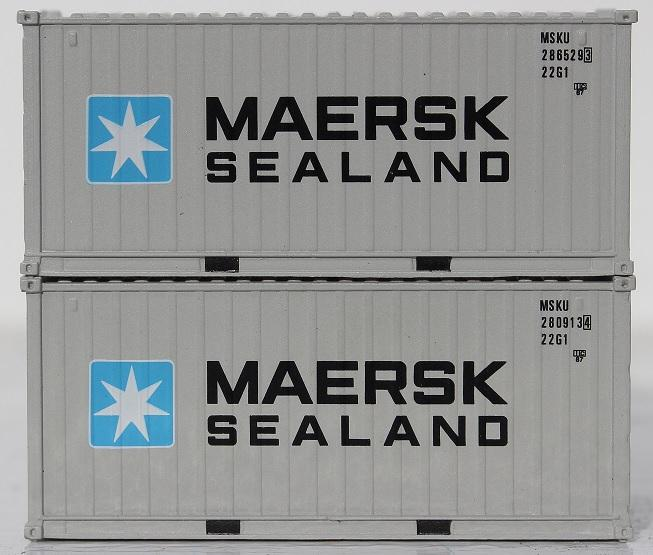 "20' Standard height (8'6"") Containers in 1:160 scale with IBC pins & Magnets"