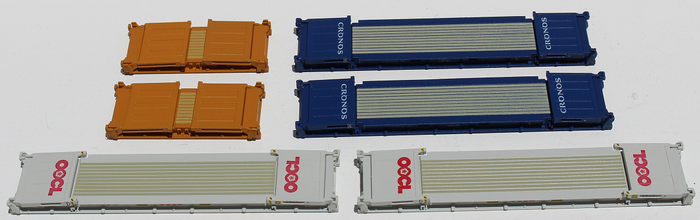 Flatrack containers with Collapsible ends - First time in N scale