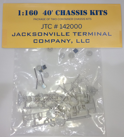 40' CHASSIS KIT  JTC #142000 (kit-basher's 2-pack)