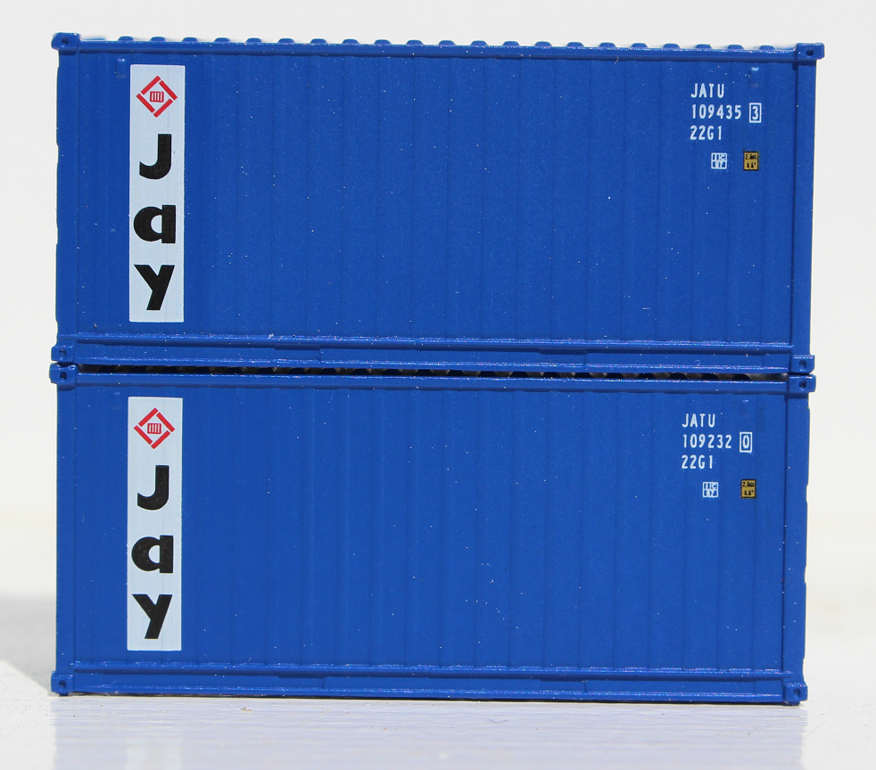 JAY Container Services - 20' Std. height containers with Magnetic system, Corrugated-side. JTC-205303