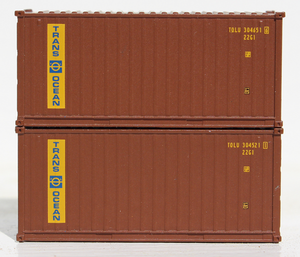 TRANSOCEAN - 20' Std. height containers with Magnetic system, Corrugated-side. JTC-205327