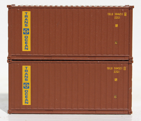 TRANS OCEAN - 20' Std. height containers with Magnetic system, Corrugated-side. JTC-205327