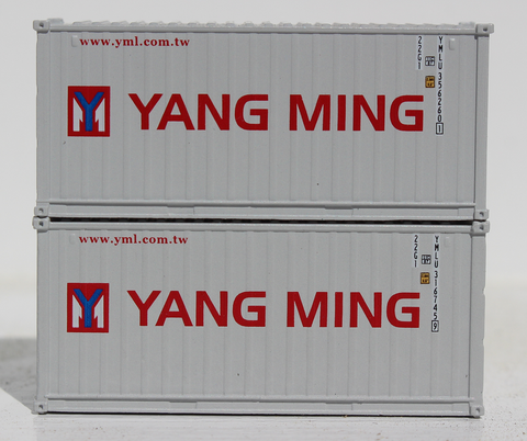 YANG MING 20' Std. height containers with Magnetic system, Corrugated-side. JTC-205339