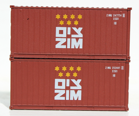 ZIM - 20' Std. height containers with Magnetic system, Corrugated-side. JTC-205341