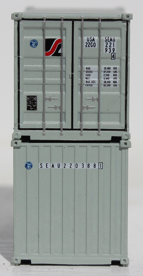 SEALAND - 20' Std. height containers with Magnetic system, Corrugated-side. JTC-205344