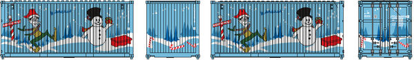 2018 JTCU Holiday 20' Std. height container with Magnetic system, Corrugated-side. JTC-205391
