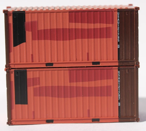 USAU Brown patch A, MILITARY SERIES US ARMY Patched  20' Std. height containers with Magnetic system, JTC-205458