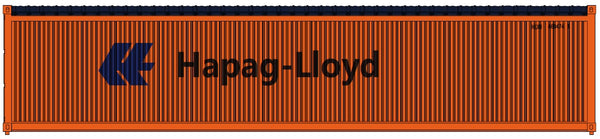 Hapag Lloyd orange 40' Canvas/Open top container - Corrugated-side. JTC# 402001 SOLD OUT
