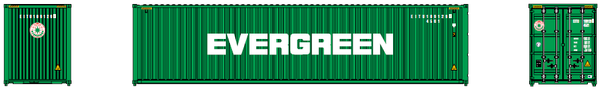 EVERGREEN– 40' HIGH CUBE containers with Magnetic system, Corrugated-side. JTC # 405046