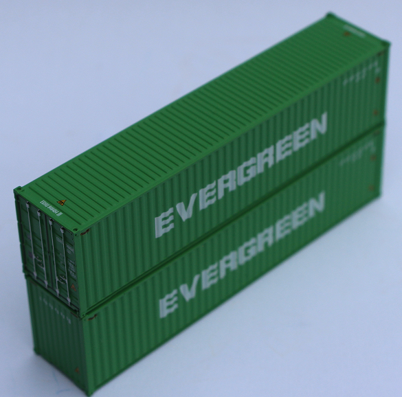 EVERGREEN (EGHU scheme) – 40' HIGH CUBE containers with Magnetic system, Corrugated-side. JTC # 405134