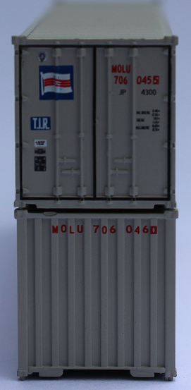 "MITSUI O.S.K. LINES (MOL) - JTC # 405522 40' Standard height (8'6"") corrugated PANEL side steel containers"