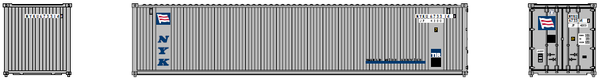 "NYK  40' Standard height (8'6"")  3-P-42-P-3 Panel side square corrugations containers. JTC # 405606"