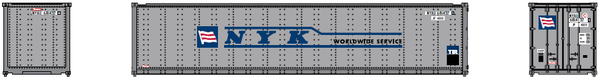 "N.Y.K. LINE 40' Standard height (8'6"") Smooth-side containers . JTC # 405670"