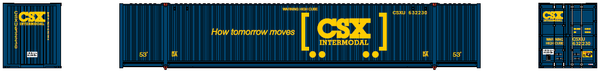CSX Intermodal (boxcar logo) 53' HIGH CUBE 6-42-6 corrugated containers with Magnetic system. JTC # 535007