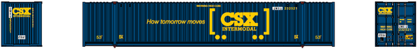 UMXU (ex -CSX boxcar logo) 53' HIGH CUBE 6-42-6 corrugated containers with Magnetic system. JTC # 535024