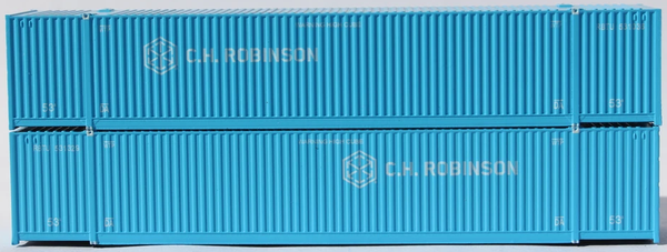 CH Robinson 53' HIGH CUBE 8-55-8 corrugated containers with stackable Magnetic system. JTC # 537006