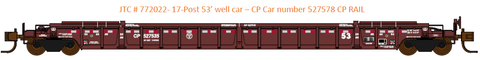 772022- CP RAIL  NSC 53' well car. Class NWF13 - 17 Post version