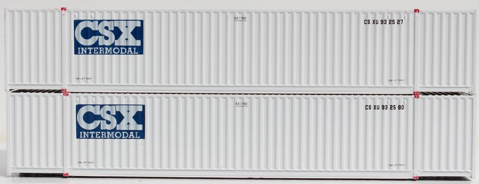 CSX Intermodal 53' HIGH CUBE 6-42-6 corrugated containers with Magnetic system, Corrugated-side. JTC # 535009