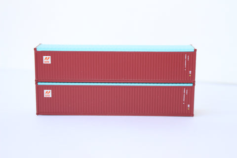 CANADA MARITIME 40' Canvas/Open top container, 'Rib-style' corrugated sides. 1:160 N scale