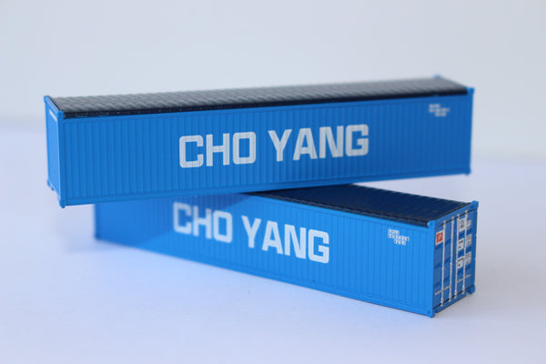 CHO YANG 40' Canvas/Open top container, Square corrugation sides. JTC# 402406