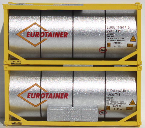 EUROTAINER 20' Standard Tank Container (1/2 Length 3/4 width with Lg. mech unit) 205247 SOLD OUT