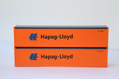 HAPAG-LLOYD 40' Canvas/Open top container, 'Rib-style' corrugated sides. JTC# 402402